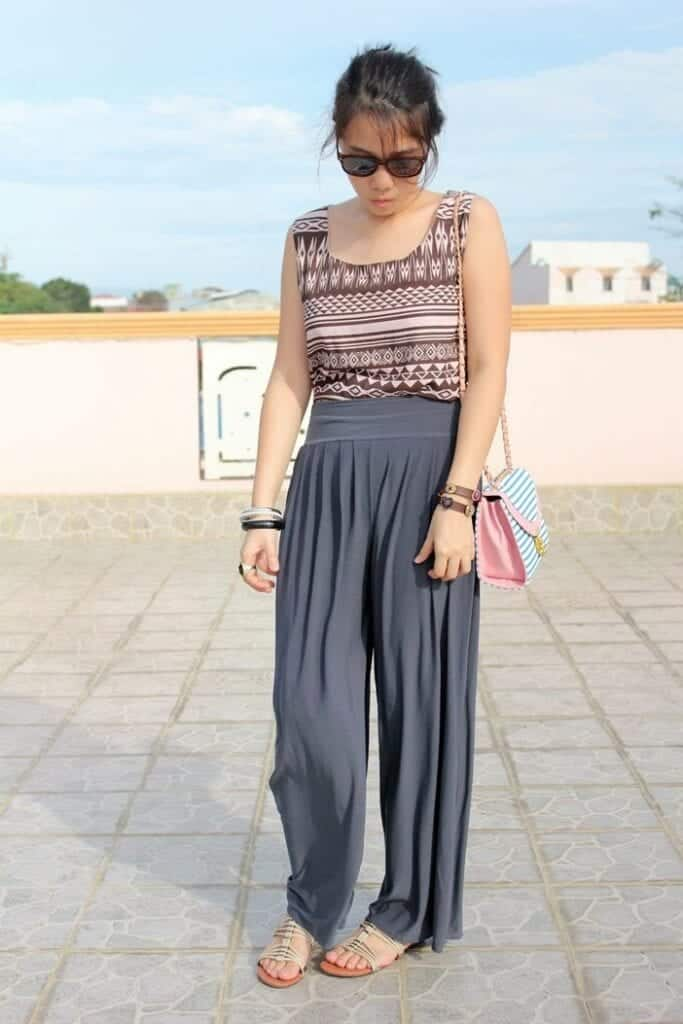 Stylish Shoes with Palazzo Pants (2)