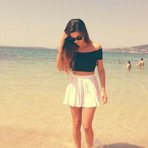 beach wear crop top