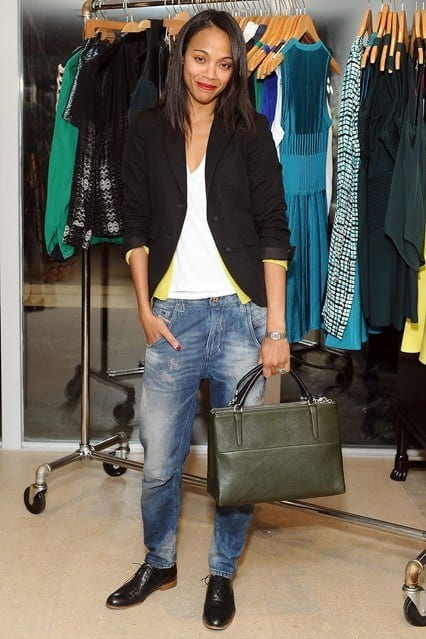 Zoe-Saldana_glamour_11dec13_getty_b_426x639 Baggy Jeans Footwear?16 Ideal Shoes to Wear with Baggy Jeans