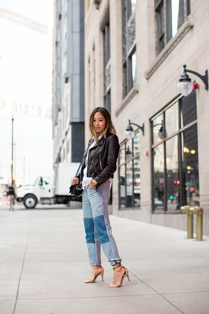 baggy-jeans-with-strappy-heels Baggy Jeans Footwear?16 Ideal Shoes to Wear with Baggy Jeans