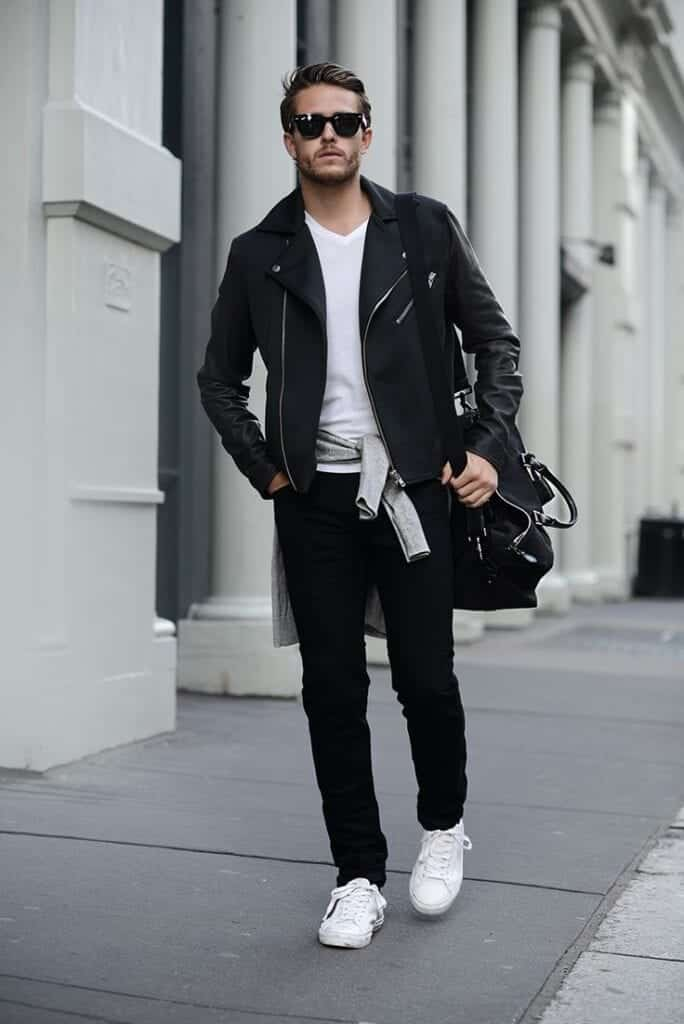 Men sneakers outfits 18 ways to wear sneakers fashionably for White shirt outfit mens