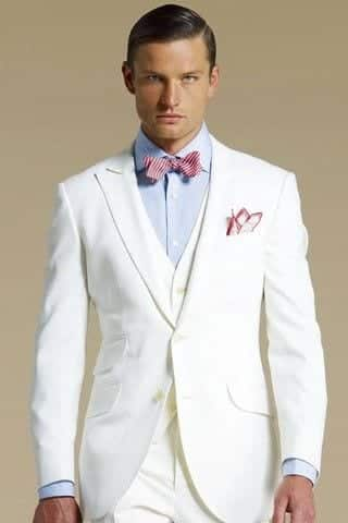Men dressing all white