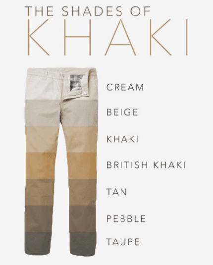 different-shades-of-khaki-pants-for-men Men Khaki Pants Outfits- 30 Ideal Ways to Style Khaki Pants