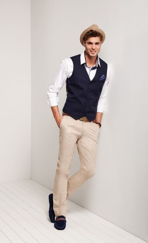 Khaki Pants Outfit Men Blazer