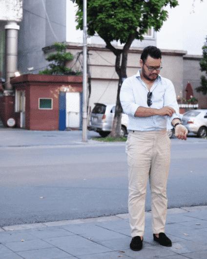 khaki-pants-outfit Men Khaki Pants Outfits- 30 Ideal Ways to Style Khaki Pants