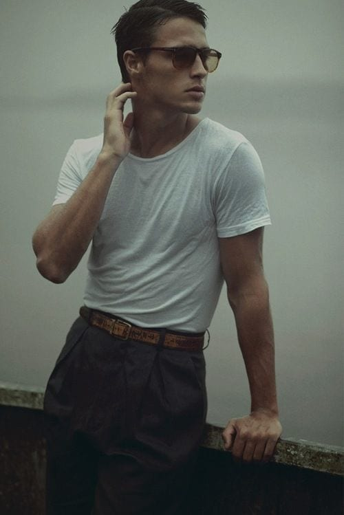 men white shirt outfit ideas12