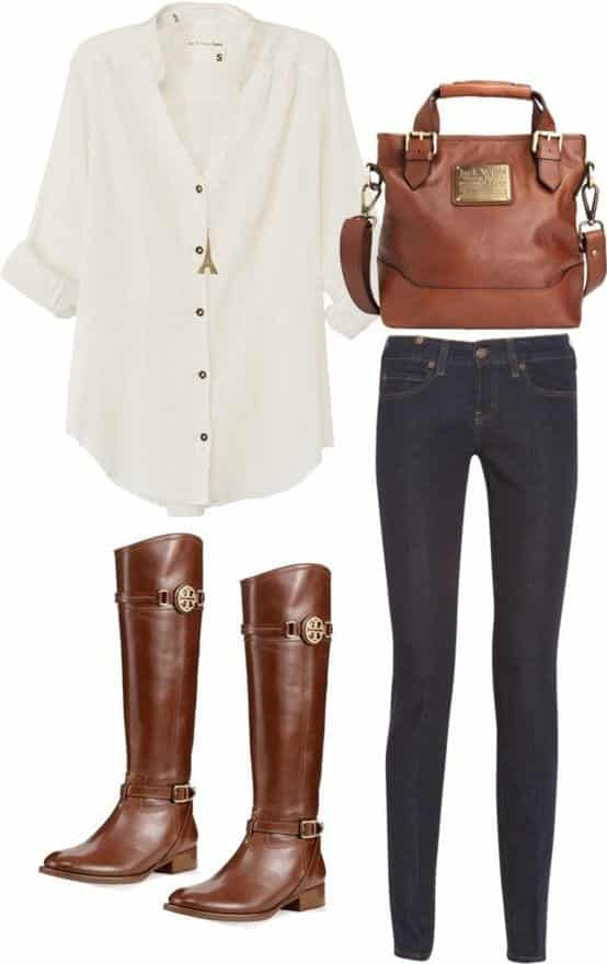 women-outfit-with-white-shirt11 17 Cute Women Outfits with White Shirt-Pairing Style Ideas