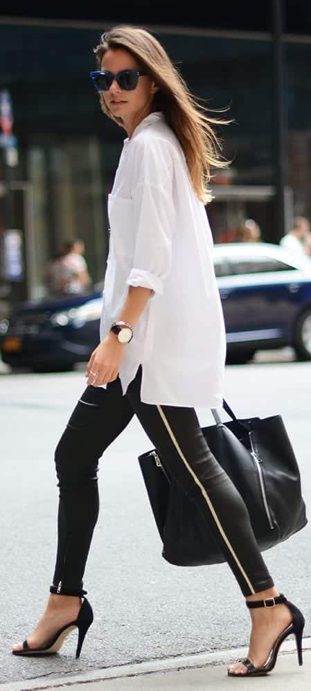 17 Cute Women Outfits with White Shirt-Pairing Style Ideas