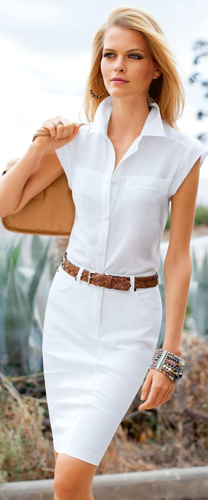 17 Cute Women Outfits With White Shirt Pairing Style Ideas