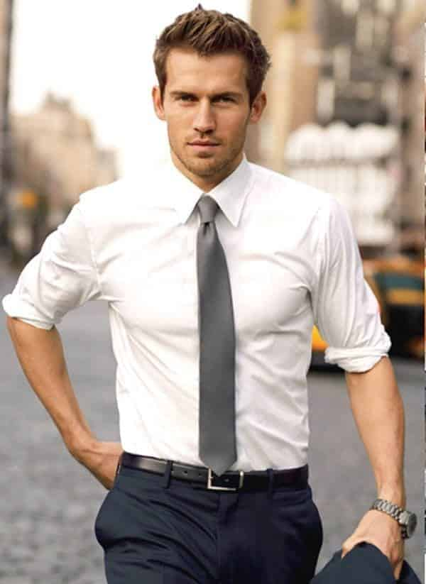 White Shirt Outfits for Men (10)