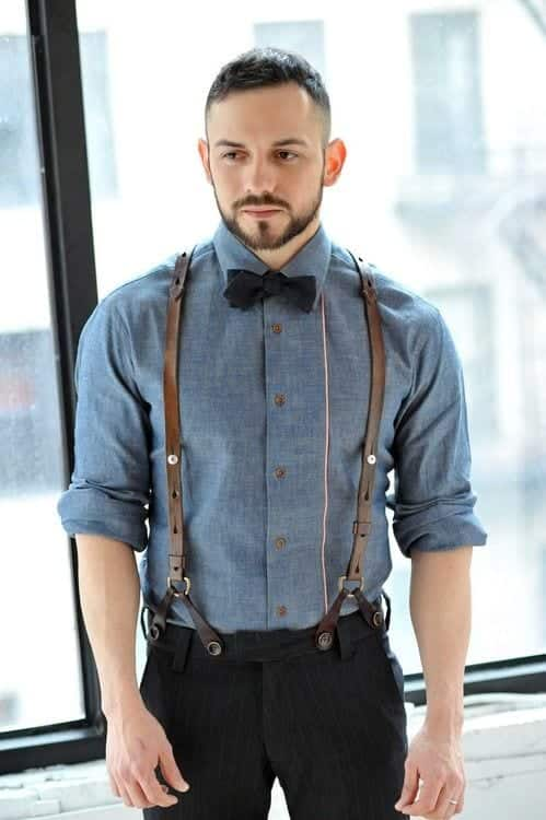 How to wear braces 20 best men outfits ideas with suspenders for Best mens dress shirts under 50