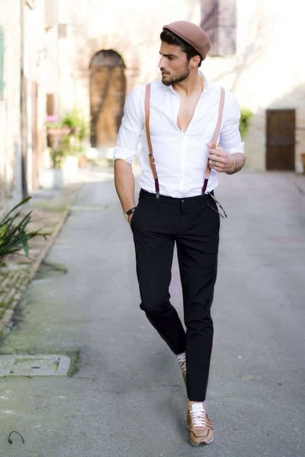 70c14e4c49f69cba98ca479c49670a56 How to Wear Braces? 20 Best Men Outfits With Suspenders