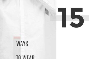 how to wear mens white button down shirt
