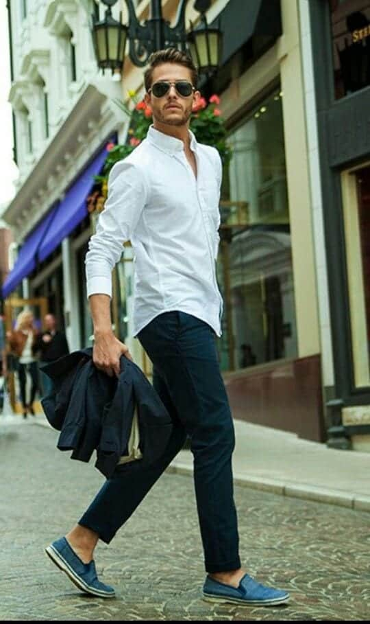 White Shirt Outfits for Men (7)