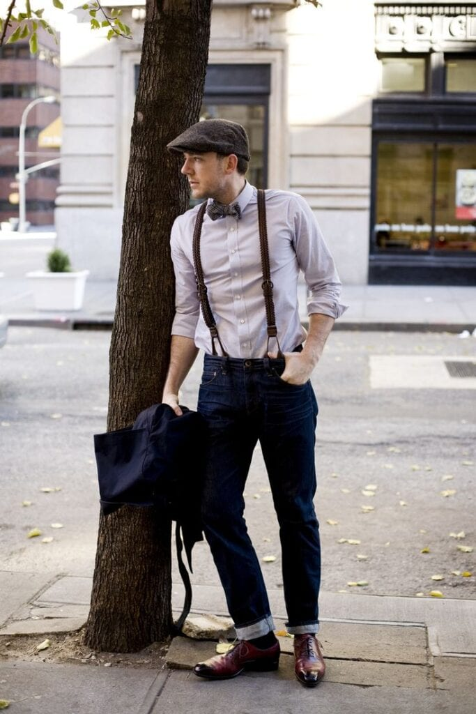 a3b24a7e5e8425f097d446f86c0fee28-683x1024 How to Wear Braces? 20 Best Men Outfits With Suspenders