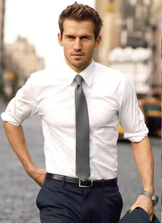 Men White Shirt Outfits-15 Ways to Wear White Button Down Shirts