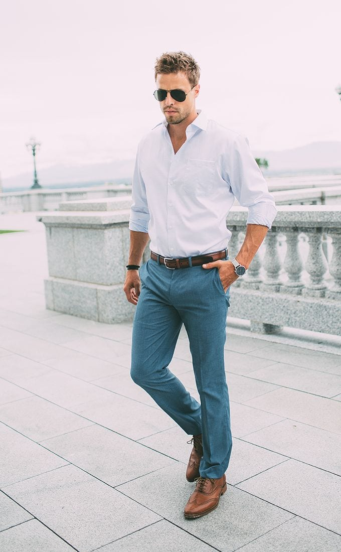 White Shirt Outfits for Men (8)