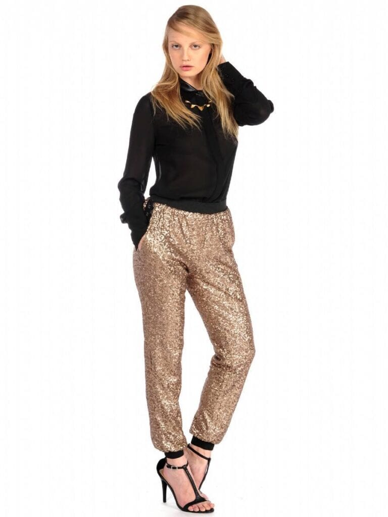 jagger-sequin-pants-768x1024 Sequins Wardrobe Essentials-16 Ways to Wear Sequin Outfits