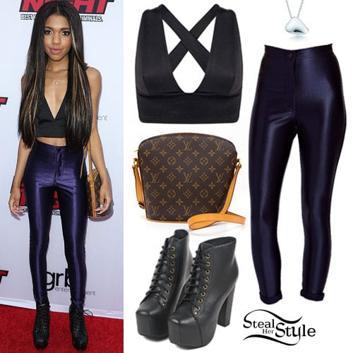 teala-dunn-navy-disco-pants Lita Boots Outfits - 17 Ways to Wear Lita Shoes Fashionably