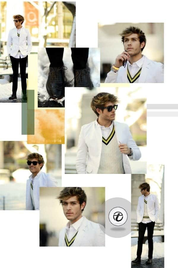 white-button-down-shirt-outfit-for-winters Men White Shirt Outfits-15 Ways to Wear White Button Down Shirts