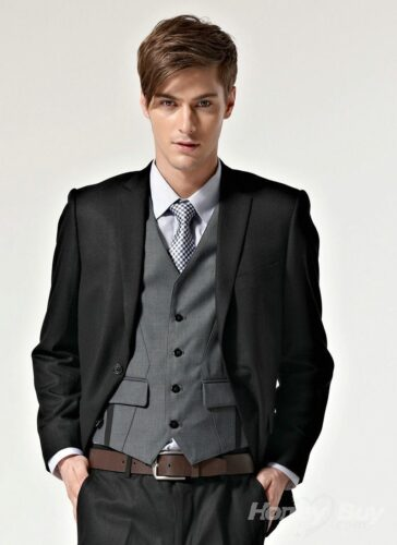 3-new-black-and-grey-color-cheap-men-suit-ideas-364x500 Short Height Guys Fashion-20 Outfits for Short Men to Look Tall