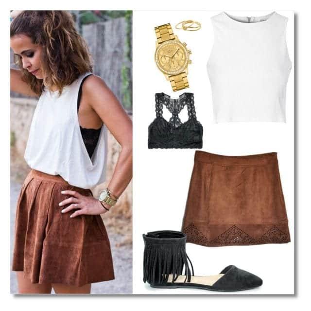 30b251befd4990d2461ecc76cee014861 Cute Seude Skirt Outfits-17 Ways to Wear Seude Skirts