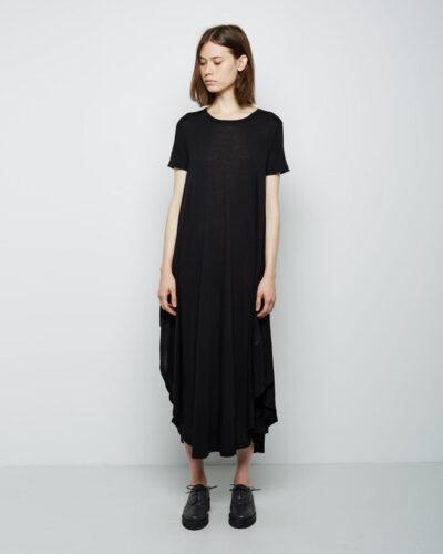 MM6byMaisonMartinMargielaConvertibleLongTeeDress_757301-400x500 Women All Black Outfits - 20 Chic Ways to Wear All Black
