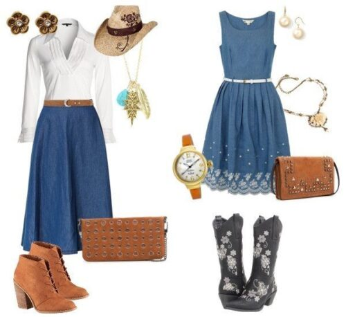 Western-Themed-Wedding-Guest-Outfit-Ideas-500x458 Cowgirl Outfits - 25 Ideas on How to Dress Like Cowgirl