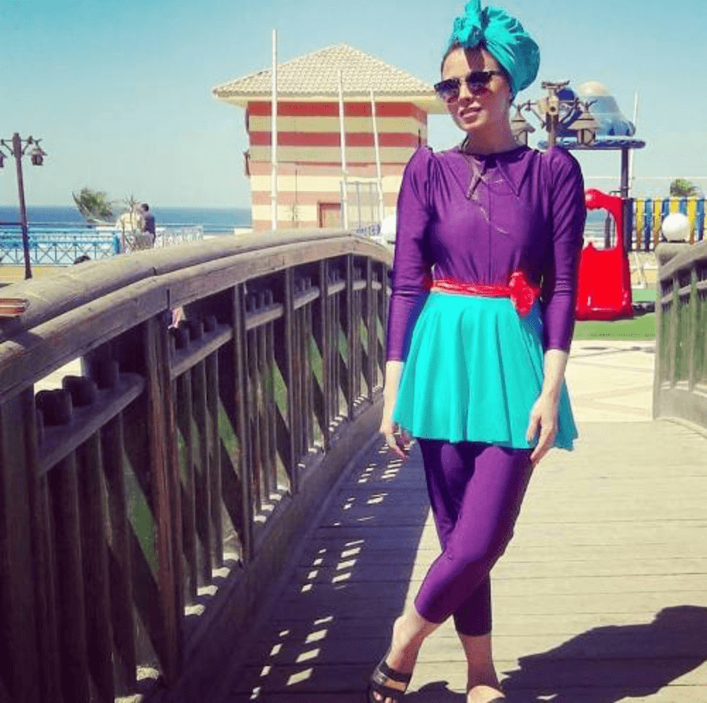beach-hijab-style Beach Hijab Outfits–34 Modest Beach Dresses for Muslim Girls