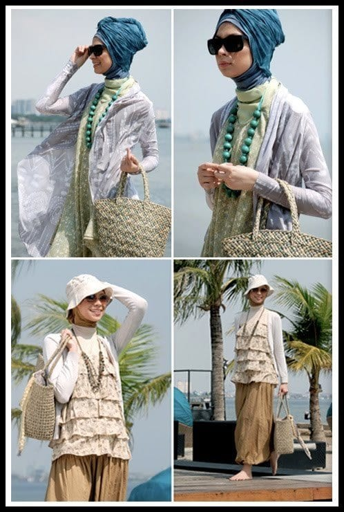 beach-style Beach Hijab Outfits–34 Modest Beach Dresses for Muslim Girls