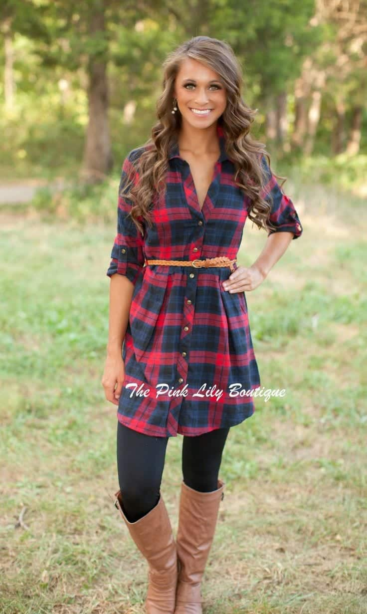 belt 18 Best Check Shirt Outfit Combinations for Girls in All Seasons