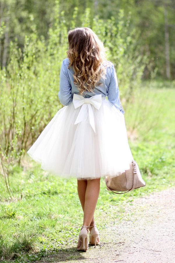 bow Lulu Skirt Outfits-22 Ways How to Wear Lulu Skirts Fashionably