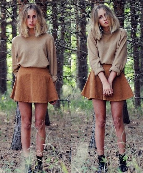 corduroy Lulu Skirt Outfits-22 Ways How to Wear Lulu Skirts Fashionably