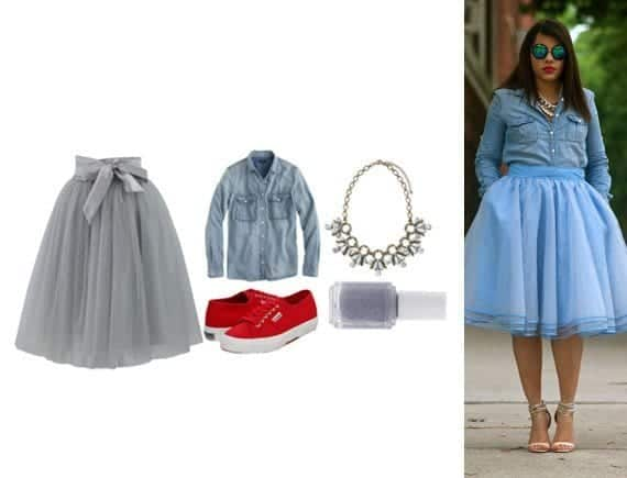 denim-bottle Lulu Skirt Outfits-22 Ways How to Wear Lulu Skirts Fashionably