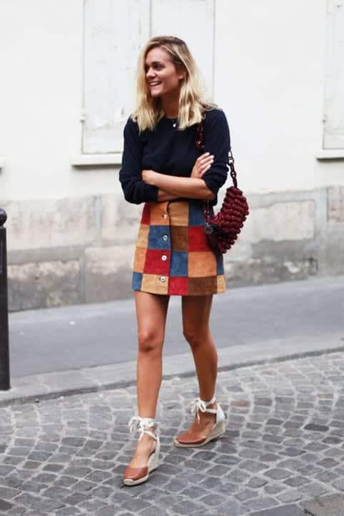 fall-fashion-suede-skirt-adenorah-h724 Cute Seude Skirt Outfits-17 Ways to Wear Seude Skirts