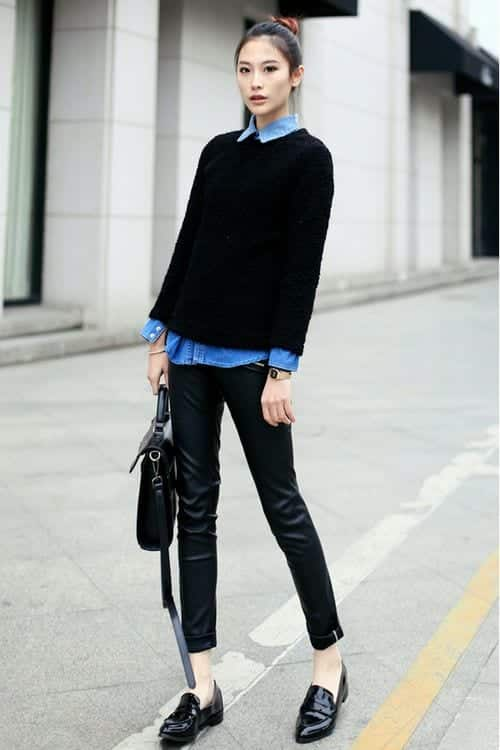 jumper1 18 Best Check Shirt Outfit Combinations for Girls in All Seasons