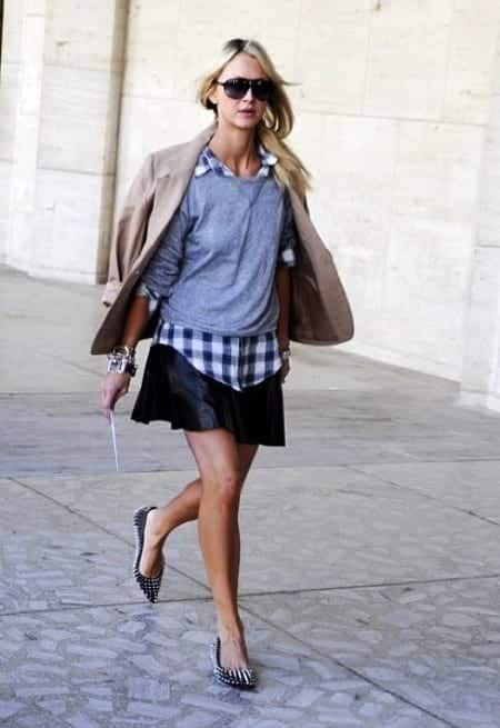 layering 18 Best Check Shirt Outfit Combinations for Girls in All Seasons