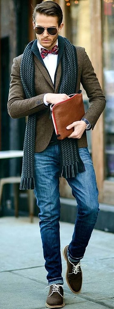 men outfits with brown dress shoes 1