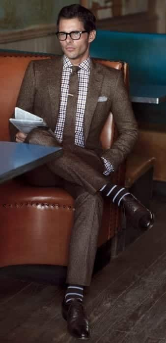 men outfits with brown dress shoes 17