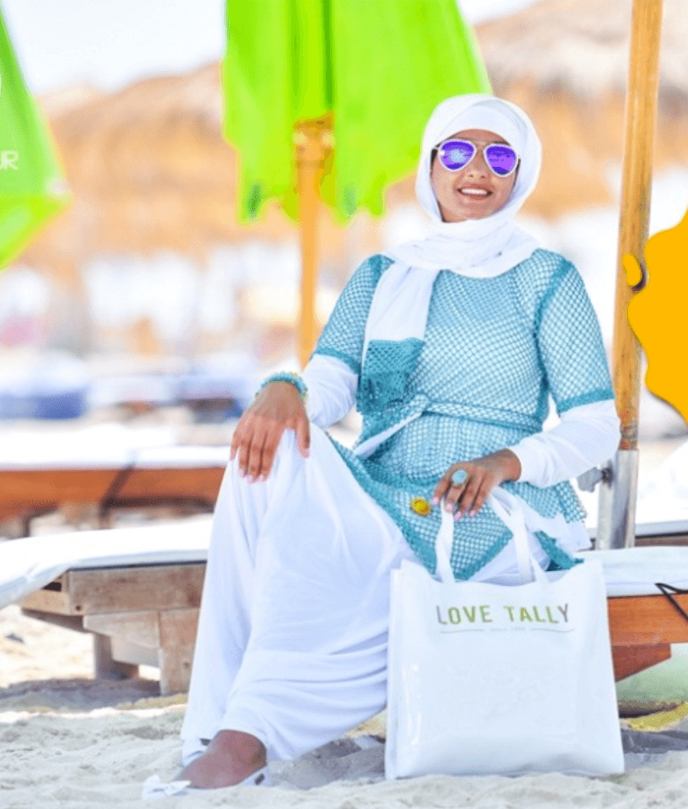 plus size hijab beach