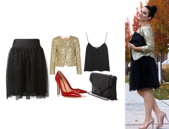 sequin Lulu Skirt Outfits-22 Ways How to Wear Lulu Skirts Fashionably