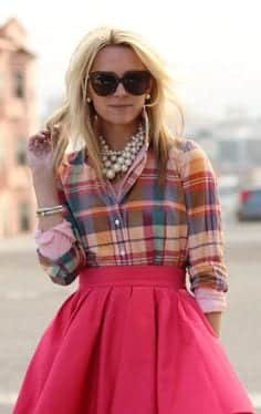 skirt 18 Best Check Shirt Outfit Combinations for Girls in All Seasons