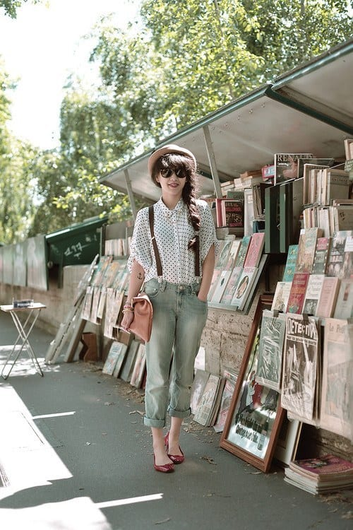 suspenders 18 Best Check Shirt Outfit Combinations for Girls in All Seasons