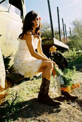wedding-themes-country-western-chic-little-white-wedding-dress__full-338x500 Cowgirl Outfits - 25 Ideas on How to Dress Like Cowgirl