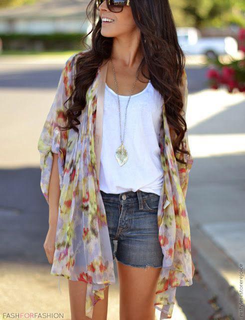 112 Kimono Outfit Ideas- 20 Ways To Dress Up With Kimono Outfits