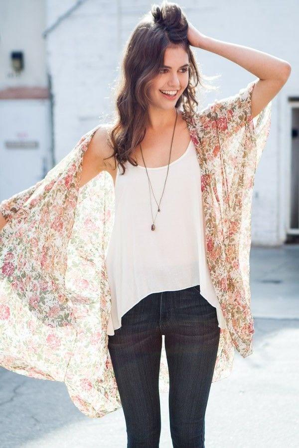 6 Kimono Outfit Ideas- 20 Ways To Dress Up With Kimono Outfits
