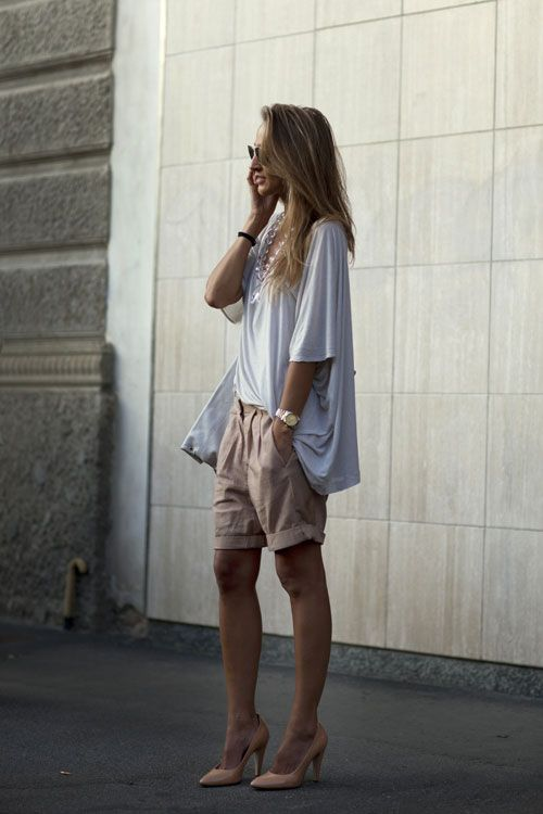 Cute-Bermuda-Shorts-Outfits-For-Girls-1 How to Wear Bermuda Shorts for Girls - 20 Outfits Ideas