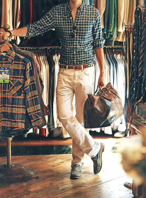 Male-Check-Shirt-Style-1 Men Check Shirt Outfits – 16 Ways to Style Check Shirts