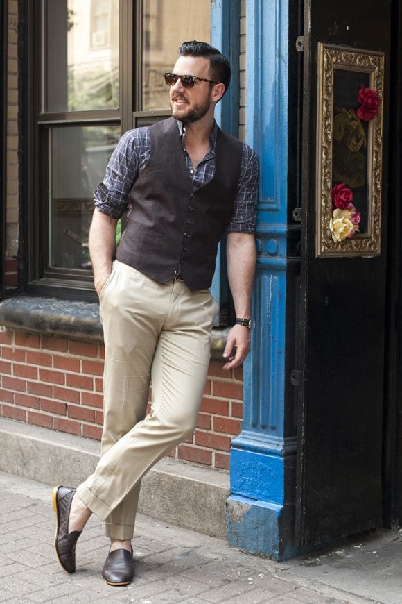 Male-Check-Shirt-Style-8 Men Check Shirt Outfits – 16 Ways to Style Check Shirts
