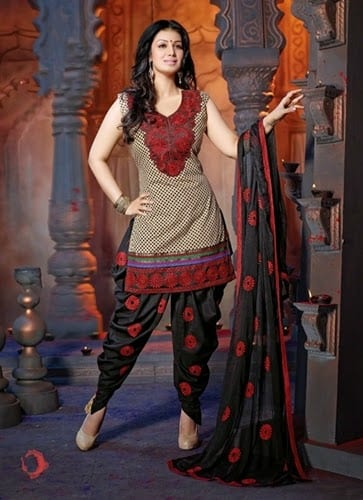 Patiala Shalwar Kameez With Dhoti Salwar - 001 -She-styles
